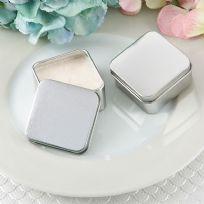Perfectly Plain Square Silver Metal Travel Candle Tin